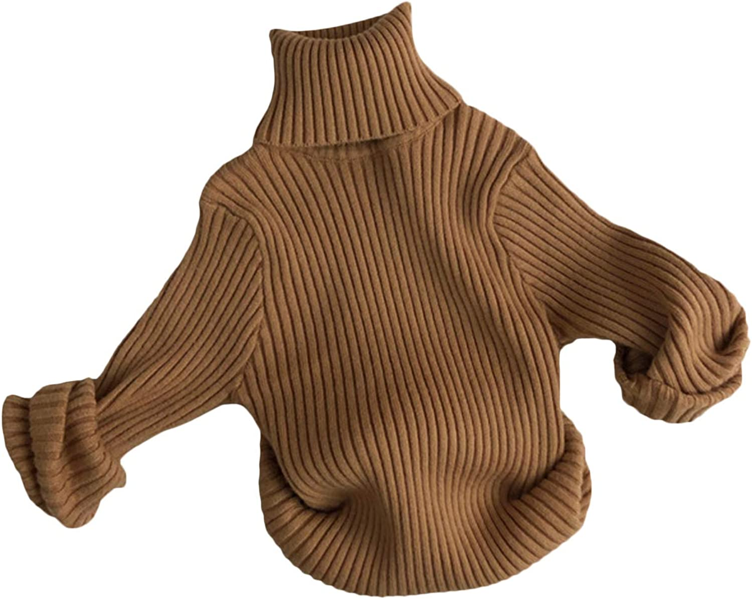 Little Girls Boys Fall New product!! Winter Ranking TOP11 Clothes Turtleneck Sleeve Rib Long