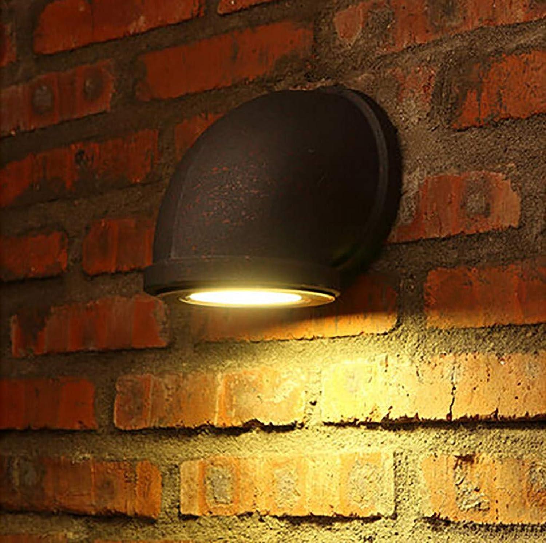 XGBIN Kreative Wasserpfeifen-Wandleuchte, einzelne LED-Scheinwerfer, Retro-Loft-Gang-Treppen-Restaurant-Bar-Korridor-Nostalgiklampen