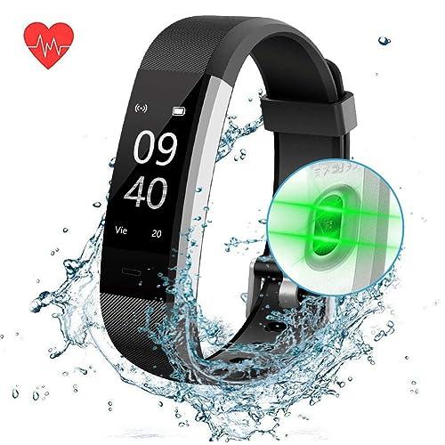 ANEKEN Pulsera de Actividad Pulsera Inteligente con Pulsómetro Pulsera Deportiva y Monitor de Ritmo Cardíaco Impermeable