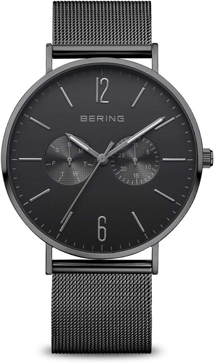 BERING Reloj Analógico Classic Collection para Hombre de Cuarzo con Correa en Acero Inoxidable y Cristal de Zafiro 14240-223
