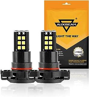 Auxbeam 5201 5202 LED Fog Light Bulbs 6000K 800 Lumens 30W H16 LED Bulb 3030 30-SMD Chips 12V LED 5202 Bulb High Power Xenon White (Set of 2)