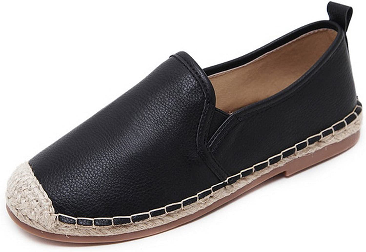 1TO9 Womens No-Closure Round-Toe Solid Urethane Flats shoes