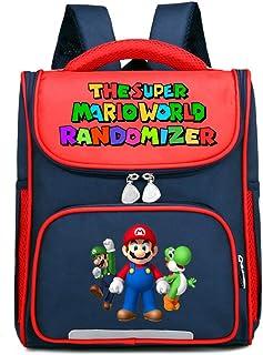 Super Mario Mochilas Infantiles Mochila Original para niños pequeños de poliéster Multi-Color Elementary School Kindergarten School Backpack (Color : Red11, Size : 27 X 12 X 33cm)