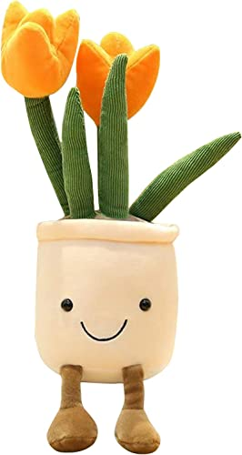 new arrival Plush Toy Stuffed Plant Flower Doll discount Hugging Pillow Table Decoration Toy Gift for Friends Kids Baby Girl, Shelf Plant Table Decoration Gift for online sale Women, Orange online sale