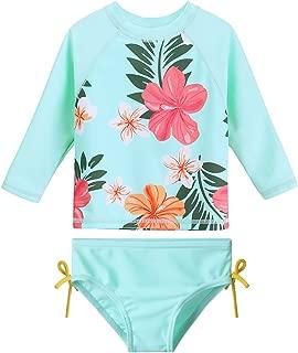 Baby/Toddler Girls Swimsuit Rashguard Set Flower Tankini