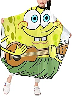 Spongebob Squarepants Guitar Salon Cape - Kids Haircut Barber Cape Cover For Hair Cutting,Styling And Shampoo