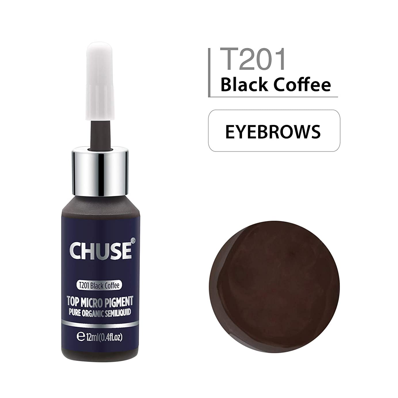 グリップインタラクション立派な(チュース)Chuse T201 品質最高アイライナータトゥーカラーメイク色素 黒いコーヒー