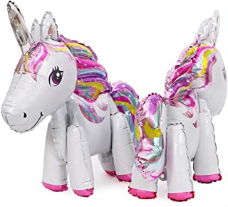 whatUneed 2PCS Unicorn Balloons, Foil Balloon del Partito, Giocattoli per la Cerimonia Nuziale, Decorazione della Festa di...