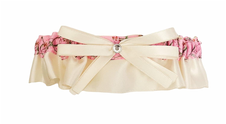 Ivory Satin Pink Camouflage Bridal Rhi Wedding Japan Maker New Keepsake Garter - Max 70% OFF
