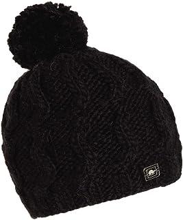 Turtle Fur Women's Puli Merino Wool Hand Knit Sherpasoft Fleece Lined Pom Hat