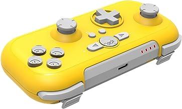 Mini Controle De Jogo Sem Fio para Nintendo Switch Vibração 6 Eixos - Amarelo