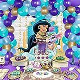 Aladdin Party Decorations Jasmine Aladdin Balloon Garland Hanging Garland for Princess Birthday Arabian Nights Party Supplies 92 Pack