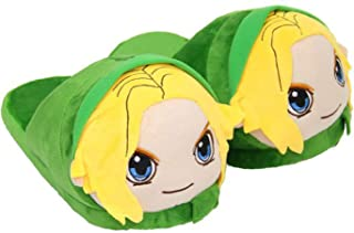 EASTVAPS Zelda Legend Link Plush Slippers Cartoon Anime Winter Warm Cotton Shoes Green