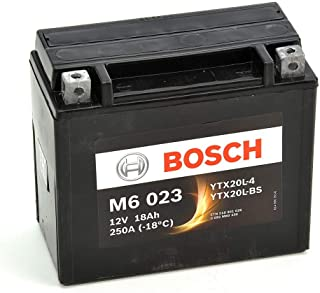 Bosch M6023 Batería motocicleta YTX20L-BS - 12V AGM 18A/h-260A