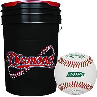 Diamond 6-Gallon Bucket with 30 Diamond DOL-1 HS NFHS Leather Balls