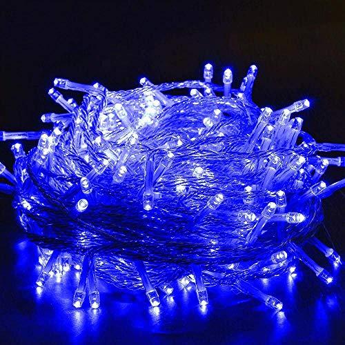 Lumière suspendue festive LED lampe de chaîne lampe de fée étanche Convient pour la décoration de Noël de mariage de fête de chambre - bleu-300m3000 lights