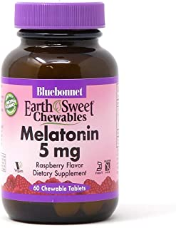 Bluebonnet Nutrition EarthSweet Melatonin 5 mg Fast-Acting Quick Dissolve Nighttime Relaxation & Restful Sleep Support - S...