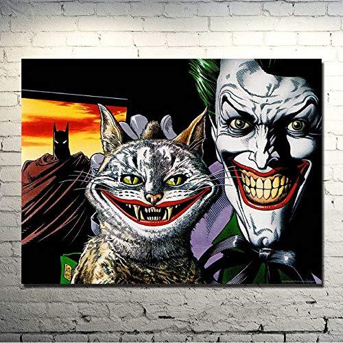 AQgyuh Puzzle 1000 Piezas Dark Warrior-Joker Movie Game Art Imagen en Juguetes y Juegos Gran Ocio vacacional, Juegos interactivos familiares50x75cm(20x30inch)
