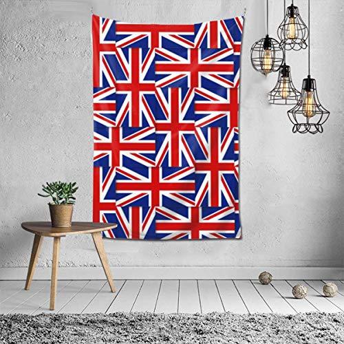 N\A Tapisserie Britisches Muster komponiert aus Nationalflaggen des Vereinigten Königreichs Wanddekor Mandala Beach Tagesdecke Komplizierte indische Tagesdecke Wandteppiche