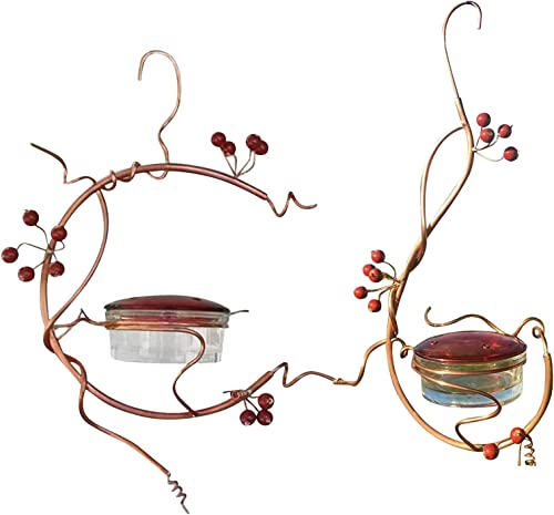 lowest OPTIMISTIC Hummingbird Feeders for Outdoors Hanging popular Bird Feeder with Feeding Ports Metal popular Handle Hanging for Garden Tree Yard Outside Decoration Garden Art Decor, 2 Pack online sale