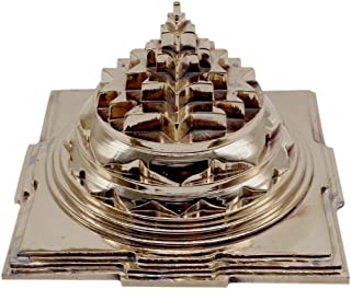 Meru Shree Yantra Pyramid in Alloy Metal Hollow 5 Inches Heavy Quality Blessed and Energized for Wealth and Prosperity (Al...