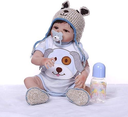 entrega de rayos Muñeca Reborn de juguete para bebé, 48 cm, realista, suave, suave, suave, de silicona, viNiño para recién nacidos, juguetes, ropa de bebé, chupete, regaño hecho a maño  Hay más marcas de productos de alta calidad.