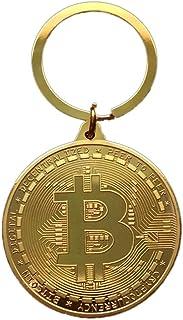 Bitcoin Coin Portachiavi Bitcoin Portachiavi Vintage Bitcoin con Ciondolo a moneta Bitcoin placcato per chiavi Grande Coll...