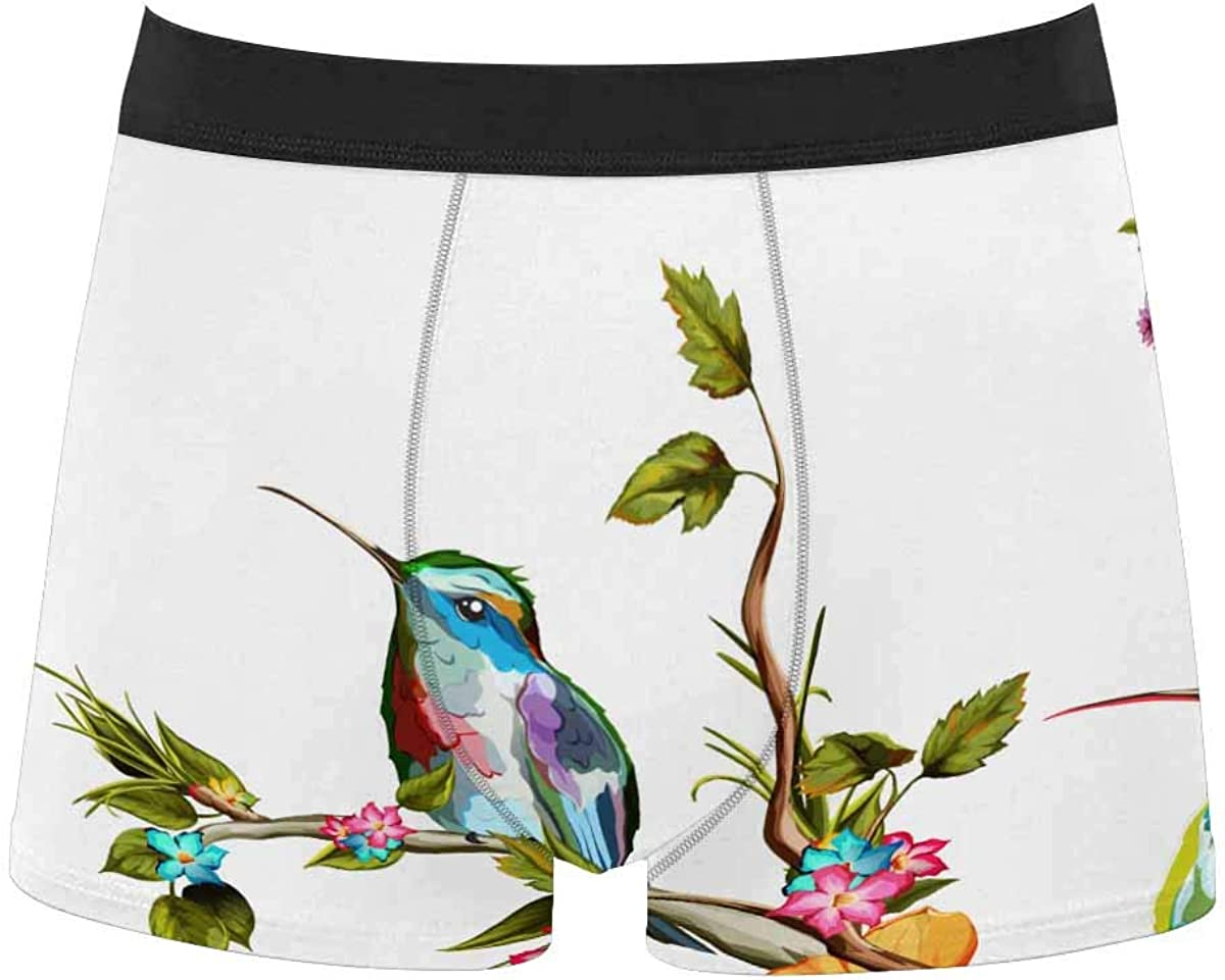 InterestPrint All Over Print Breathable Polyester Boxer Briefs Underwear Horse Racing
