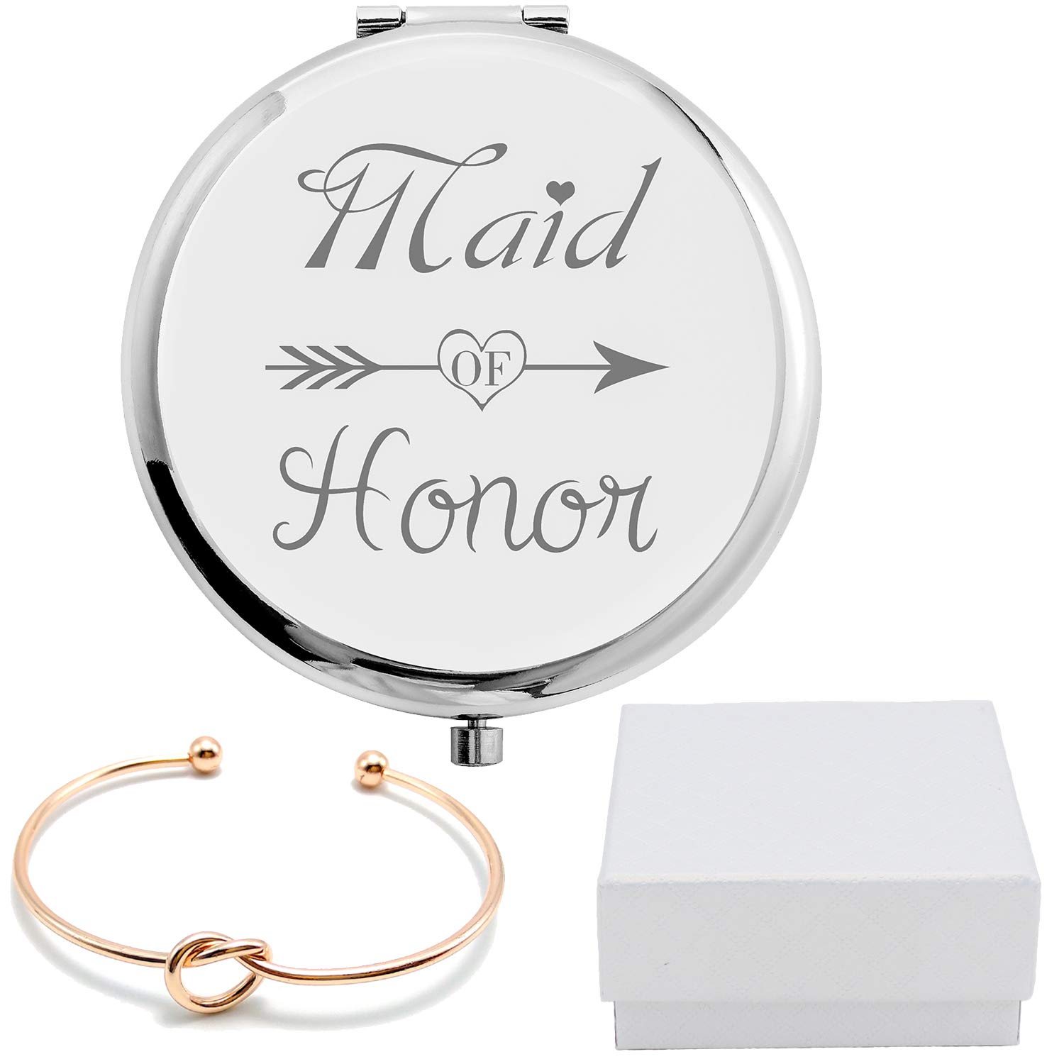 Maid Outstanding of Honor Gifts Set Silver M Baltimore Mall Comapact Stainless Pocket Steel