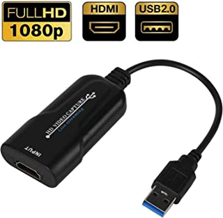 DIGITNOW USB 2.0 Video Capture Card HDMI Video HD 1080P Capture Box Live Streaming for DVD Camcorder Camera Recording, Record Graphic Grabber for Gaming, Streaming, Teaching, Video Conference