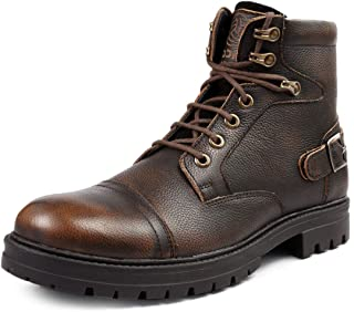 Bacca Bucci Mid lace up Rugged Fashion Genuine Leather Street Fighter Chukka Derby Boot for Men
