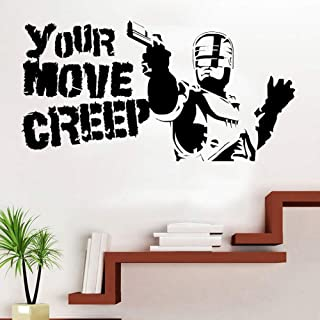 HDZWOO Movie Quotes Your Action Creep Vinyl Art Wall Sticker Home Wall Decor Living Room Bedroom Movie Quote Black 81x42cm