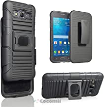 Cocomii Cyborg Armor Galaxy Grand Prime Case New [Heavy Duty] 5-in-1 Belt Clip Holster Ring Grip Kickstand Shockproof [Works with Magnetic Car Mount] Cover for Samsung Galaxy Grand Prime (Cy.Black)
