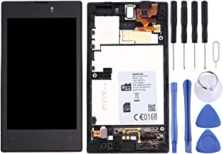 JIJIAO Repair Replacement Parts LCD Display + Touch Panel with Frame for Nokia Lumia 520(Black) Parts