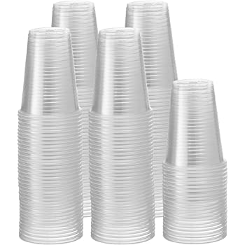 [500 Pack - 9 oz.] Clear Disposable Plastic Cups - Cold Party Drinking Cups