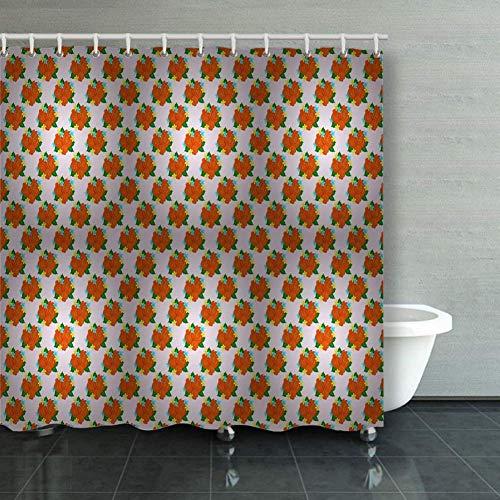 BGNHG Cortina de la Ducha Shower Curtain Wild Rose Design Flower Hand