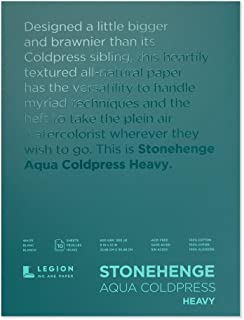 "Yupo Paper Stonehenge Aqua Block Coldpress Pad 9""X12"" 10 Sheets/Pkg-White 300lb"