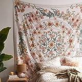 SROOD Tapiz bohemio beige para colgar en la pared, mandala floral medallón hippie con diseño de...
