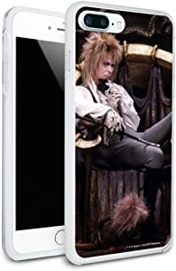 Goblin King Jareth from The Labyrinth Sitting On Throne David Bowie Protective Slim Fit Hybrid Rubber Bumper Case for Apple iPhone 7 and 7 Plus