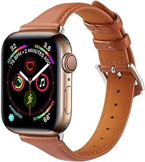 Correa de cuero para Apple Watch 5/4/3/2/1 38mm 40mm Correa de reloj Correa de repuesto de bucle de cuero para IWatch 5/4/...