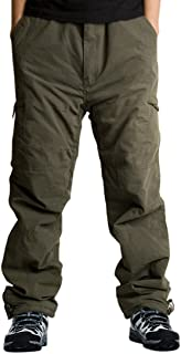 EXEKE Men's Thermal Relaxed-Fit Cargo Pants Fleece Lined Ski Pants Winter Outdoor Tactical Pant