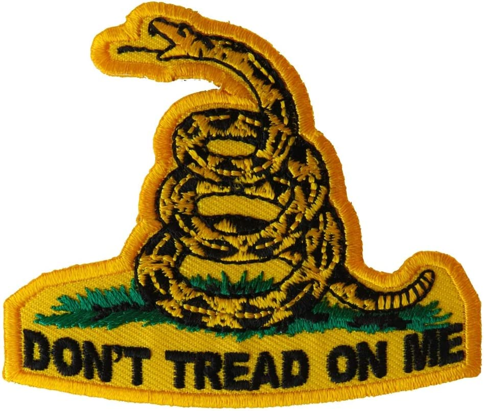 Don't Tread SALENEW very popular On Fort Worth Mall Me Small Patch - on inch. 3x2.5 Iron Embroidered