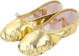 cb87947f10820 MSemis Filles Femme Demi Pointe Toile Chaussures de Ballet Pilates Doux  Chaussons de Danse Classique pour
