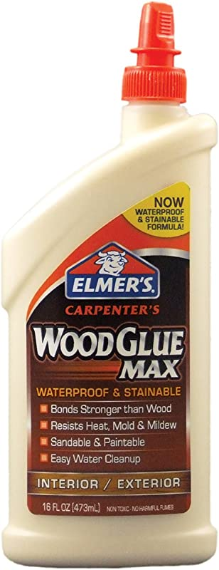 Elmer S E7310 Carpenter S Wood Glue Max Interior Exterior 16 Ounces