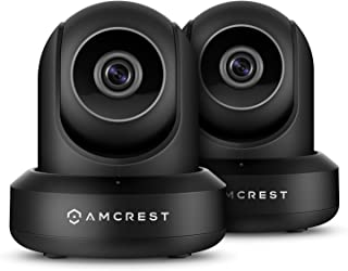 Amcrest 2-Pack ProHD 1080P WiFi Camera 2MP (1920TVL) Indoor Pan/Tilt Security Wireless IP Camera 2PACK-IP2M-841B (Black)