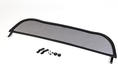 Deflector de Viento - Plegable TiefTech Deflector de Viento para Audi 80 Descapotable 1991-2000 Parabrisas para descapotable Negro con Cierre R/ápido Deflector de Aire
