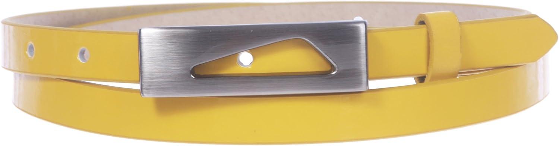 1 2  (14 mm) Womens Snap On Skinny Patent Leatherette Belt