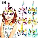 Beito 12pcs del Unicornio Máscara niños Unicornio Fiesta de cumpleaños favores con el Extra...