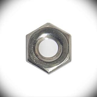 """Small Pattern 4-40 Hex Nut 3//16"""" Flats x 1//16"""" Steel Zinc Yellow PKG of 100"""