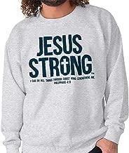 Jesus Strong Philippians Bible Christian Crewneck Sweatshirt